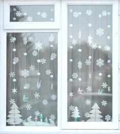 Talvine aknakaunistus.