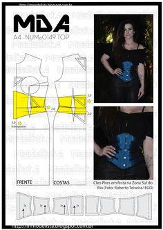 UnderBust: é um corset que não cobre os seios. Pela sua versatilidade pode ser usado como complemento de uma lingerie ou por cima das roup...