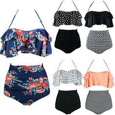 f118955f61b9d  9.99 - Women s Retro Boho Flounce Falbala High Waist Bikini Set Chic Swimsuit  Swimwear  ebay  Fashion. Melissa Cline · Swimsuits