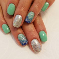 """33 Likes, 2 Comments - adri chavez ♡ (@nailnaturale_adri) on Instagram: """"Mermaid nails, one of my fave sets #albuquerque #nailnaturale #bestinabq #biosculpture…"""""""