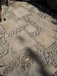Mosaic and stone patio