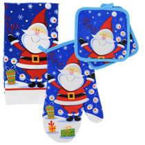 Christmas House Santa Kitchen Linens Collection