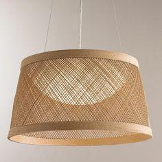 Fiber Weave LED Indoor/Outdoor Pendant – Medium - All For Decoration Large Pendant Lighting, Contemporary Pendant Lights, Drum Pendant, Contemporary Rugs, Light Pendant, Mini Pendant, Exterior Lighting, Outdoor Lighting, Lighting Ideas