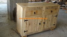 Pallet Sideboard by Alex #ConstructionByAlex, #PalletFurniture, #Sideboard