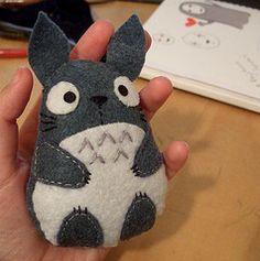 Totoro Plush (yael555) Tags: cute sewing felt plush plushies totoro kawaii plushie ghibli studioghibli hayaomiyazaki