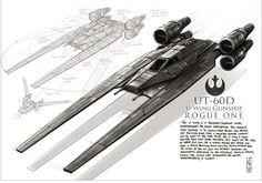 U Wing Gunship - ROGUE ONE - fanart, Shane Molina on ArtStation at https://www.artstation.com/artwork/QLyqE