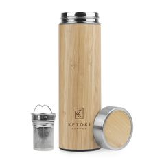 Eco Friendly Tumbler with infuser & strainer: Reusable 17oz stainless steel, vacuum insulated travel thermos for loose leaf tea I BPA-free travel filter coffee mug as fruit infuser water bottle & gift idea