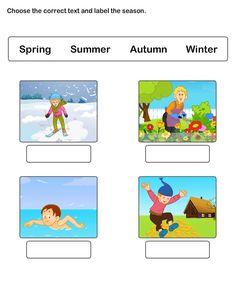 Seasons Worksheet 4 - science Worksheets - kindergarten Worksheets