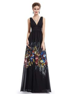 d0770d919f9 online shopping for Ever-Pretty Women s Elegant V-Neck Sleeveless Print Long  Party Dress 08724 from top store. See new offer for Ever-Pretty Women s  Elegant ...