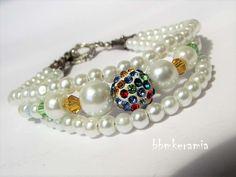 BBM Kerámia Ékszer Pearl Earrings, Beaded Bracelets, Pearls, Jewelry, Fashion, Moda, Pearl Studs, Jewlery, Jewerly