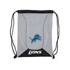 """NFL Detroit Lions NFL Doubleheader Backsack, Gray, Measures 19"""" in Height, 8"""" in Width & 12"""" in Length  http://allstarsportsfan.com/product/nfl-doubleheader-backsack/?attribute_pa_teamname=detroit-lions  Measures 19″ in Height, 8″ in Width & 12″ in Length Made of 150D Nylon main material with diamond dobby trim Reflective contrast piping; PP cording; PP webbing loops"""