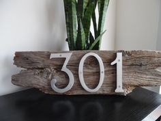 Barn Board House Number - Address Sign - Outdoor/Indoor Wall Decor - Home, Cottage, Cabin, Apartment Plaque