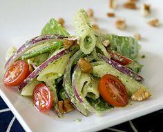 Penne Salad with Tofu Pesto