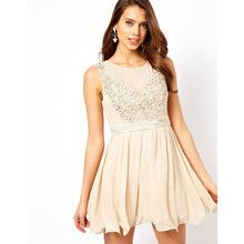 Little Mistress Applique Mesh Prom Dress