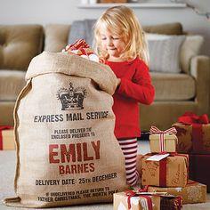 Personalised Christmas Sack- how cute!!
