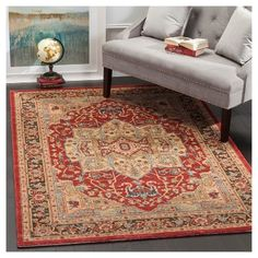 Hawly Accent Rug - Natural/Red (3' X 5') - , Natural/Blue, Safavieh