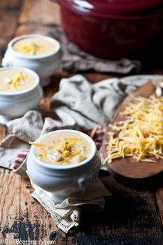 Roasted Garlic and Potato Beer Cheese Soup