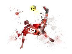 Manchester United Rooney, David Beckham Manchester United, Manchester United Wallpaper, Manchester United Legends, Manchester United Players, Football Player Drawing, Wayne Rooney, Football Wallpaper, Contemporary Artwork
