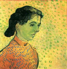 The Little Arlesienne Vincent van Gogh Fecha: Saint-rémy-de-provence, France Estilo: Posimpresionismo Género: retrato Media: óleo, canvas Localización: Museo Kröller-Müller Dimensiónes: 51 x 49 cm Art Van, Van Gogh Art, Vincent Van Gogh, Monet, Paul Gauguin, Van Gogh Portraits, Van Gogh Paintings, Watercolor Paintings, Van Gogh Museum
