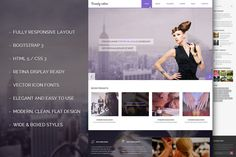 Salon Bootstrap  Responsive Theme by IceTemplates on @creativemarket