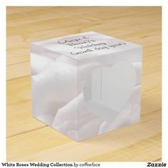 White Roses Wedding Collection Party Favor Boxes