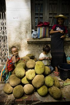At the Market - Myanmar