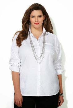 New Formal Wear Shirts And Tops For Plus Size Women By Avenue From 2015 -  WFwomen #shirts for plus size moms