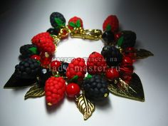 Raspberries and blackberries from polymer clay, master - class with photos, step by step