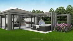 Modern Garden Design, Terrace Design, Landscape Design, Small Backyard Pools, Swimming Pools Backyard, Modern Landscaping, Backyard Landscaping, Modern Front Yard, Building Raised Garden Beds