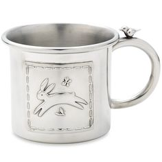 Quilted Rabbit Pewter Baby Cup By Lenox