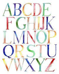 rainbow alphabet poster - Buscar con Google