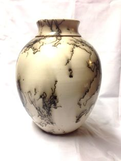Large Horse Hair Vessel with Copper Band by JohnSabosPottery, $60.00