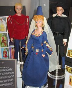"""National Barbie Convention 2006-Exhibit -- """"Treasures from Mattel's Vault """"Romeo, Gwenevere  unknown Prototypes."""