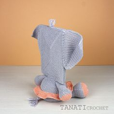 This is a crochet pattern (PDF file) NOT a finished doll you see on the photos! Elephant Size, Crochet Elephant, Elephant Pattern, Crochet Humor, Crochet Toys, Crochet Baby, Knit Crochet, Foto Frame, Sewing Patterns