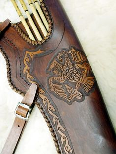 Handmade leather quiver - Falcon II.