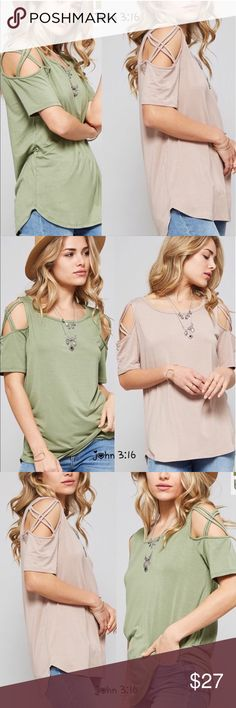 Premium bamboo tops - TAUPE This top feels and looks amazing on...quality of material is premium bamboo and feels so soft...this listing is for TAUPE!  ✔️Made in the USA 96%bamboo 4%spandex -    ✔️price is firm ✔️fits true to size  Small 34'  Medium 36' Large 38' Boutique Tops