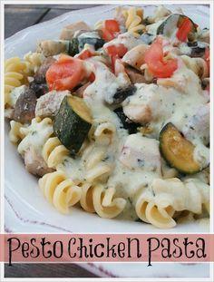 Jam Hands: Pesto Chicken Pasta