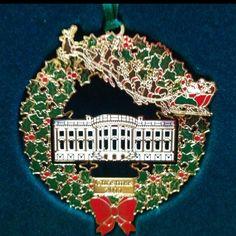2011 White House ornament. White House Ornaments, White House Christmas Ornament, White Christmas, Christmas Holidays, Vintage Ornaments, Handmade Ornaments, Holiday Cards, Christmas Cards, House Trees