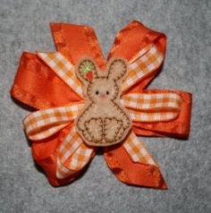 Carrot Bunny Feltie Embroidery Machine Design by SewingForSarah