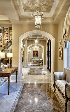 Love this hallway luxury living, luxury villa, luxury interior, luxury ho. Luxury Home Decor, Luxury Interior, Home Interior Design, Luxury Homes, Mansion Interior, Mansion Bedroom, Luxurious Homes, Interior Designing, Diy Interior