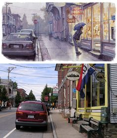 James Gurney painting w/ reference