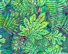 Leafy Mixture Batik - Mallard Green