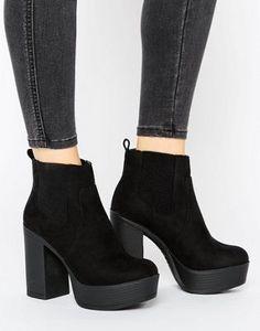 New Look Suedette Platform Boot