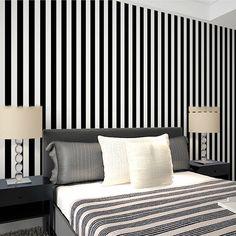 Cheap Zebra largo a strisce in bianco e nero pvc carta da parati per papel de parede listrado per la casa decorativo, Compro Qualità Carte da parati direttamente da fornitori della Cina:  Zebra largo a strisce in bianco e nero pvc carta da parati per papel de parede listrado per la casa decorativo