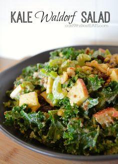 Kale Waldorf Salad Recipe  I love Waldorf salad and kale, gotta try 'me together.