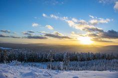 Winterparadies - Amazing sunset in Braunlage, Germany.
