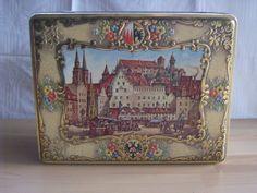 Alte große Lebkuchendose Blechdose Nürnberg Otto Schmidt ????? | eBay