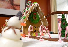 Gingerbread house created by MSU Culinary students
