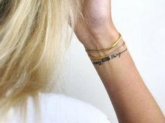 Thin and Delicate Bracelet Tattoo Design