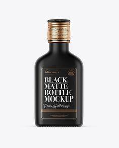 Black Matte Whiskey Bottle Mockup Preview